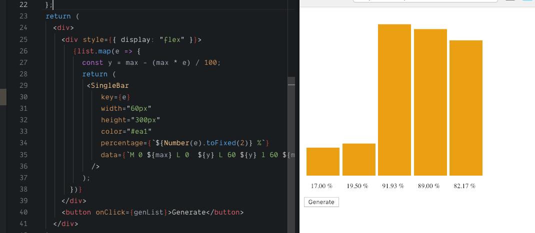 Create a bar chart with react hooks and SVG - Samderlust